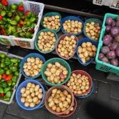 Hasil ladang, kentang dan cabai Gendot