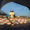 Bandara Sultan Babullah pagi hari dari bilik kaca